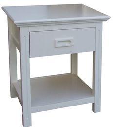TEENAGE 1 DRAWER BEDSIDE - ARCTIC WHITE - Australia's Best Online Furniture & Bedroom Furniture Store