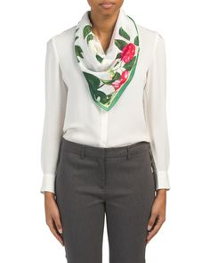 Silk+Tropic+Flora+Square+Scarf
