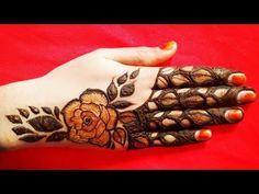 Latest Most Attractive Dubai Style Rose Mehndi Designs Mehandi Designs For Kids, Rose Mehndi Designs, Latest Bridal Mehndi Designs, Back Hand Mehndi Designs, Finger Henna Designs, Mehndi Designs For Beginners, Mehndi Designs For Fingers, Henna Designs Easy, Ring Mehndi Design