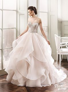 Wedding Dresses Simple, Fashionable Organza Sweetheart Neckline Ball Gown Wedding Dresses With Cascading Ruffles Midi Bridal Uk Unconventional Wedding Dress, Stunning Wedding Dresses, Dream Wedding Dresses, Princess Wedding Dresses, Bridal Dresses, Wedding Gowns, Blush Dresses, Pretty Dresses, Beautiful Dresses