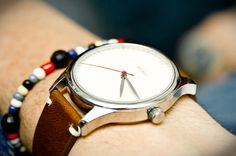 Creme dial with brown strap