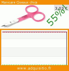 Manicare Ciseaux chics (Beauté et hygiène). Réduction de 55%! Prix actuel 3,03 €, l'ancien prix était de 6,77 €. http://www.adquisitio.fr/manicare%C2%A0/manicare-ciseaux-chics