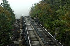 Cog Train at Mount Washington Cog Railway in NH.