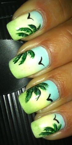 Tropical - Nail Art Gallery by NAILS Magazine @Amanda Snelson Papenfus