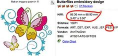 Example Embroidery Design Information. Use the .pes embroidery designs.   How to. ...