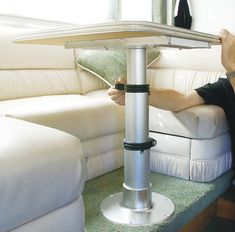 Pneumatic Boat Table Pedestal Adjustable Airstream