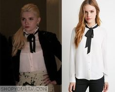 904679df02c4 Scream Queens  Season 1 Episode 1 Chanel Self-Tie Neck Blouse