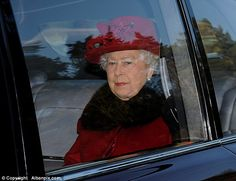 It was business as usual for the Queen today as she attended a church service on the Sandringham estate - 4th January 2015