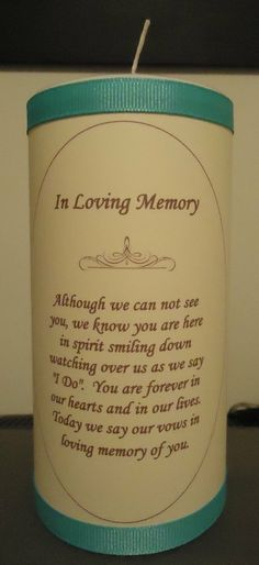 Lighting a Memorial Candle Such a beautiful idea for loved ones who have passed away. A memorial candle can be lit and an adapted version of these words said by the Celebrant at the beginning of the ceremony. Wedding Ceremony Ideas, Wedding Events, Reception, Sand Ceremony, Wedding Themes, Star Wedding, Wedding Wishes, Dream Wedding, Wedding Day