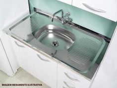 Pia de Cozinha Inox 105x52cm - Guel Plus