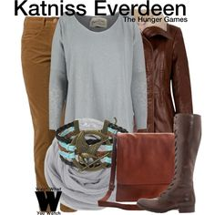 Inspired by Jennifer Lawrence as Katniss Everdeen in The Hunger Games film franchise.