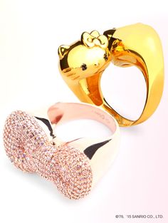 Statement rings by #nOir x #HelloKitty for elevating an evening look