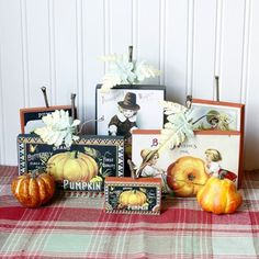 I see all those blocks of wood in my garage being repurposed into wonderful signs... DIY Vintage Thanksgiving Signs - The Graphics Fairy