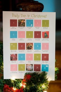 Christmas Activity Countdown - free printable to download