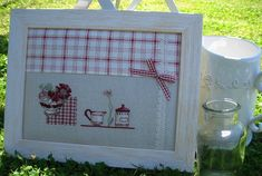 Tableau cuisine OK Quilt Stitching, Cross Stitching, Cross Stitch Kitchen, Cross Stitch Finishing, Le Point, Hand Embroidery, Cross Stitch Patterns, Needlework, Arts And Crafts