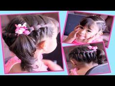 Cola y Banditas Elasticas - Accented Ponytail   Peinados Faciles   Peinados para Niñas - YouTube