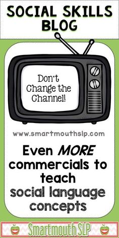 On the SmartmouthSLP blog, more social language commercials from the Super Bowl and ideas for social language therapy! Social Skills Autism, Social Skills Lessons, Social Skills Activities, Teaching Social Skills, Speech Therapy Activities, School Lessons, Teaching Ideas, Speech Language Pathology, Speech And Language
