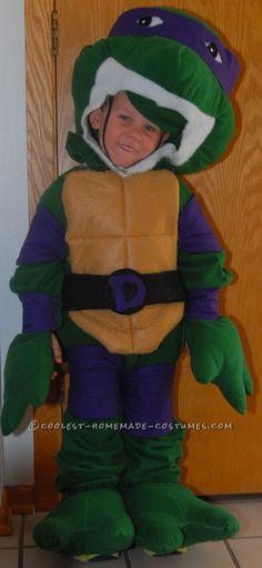 Coolest Throwback Teenage Mutant Ninja Turtle Costume for Boy… Coolest Halloween Costume Contest
