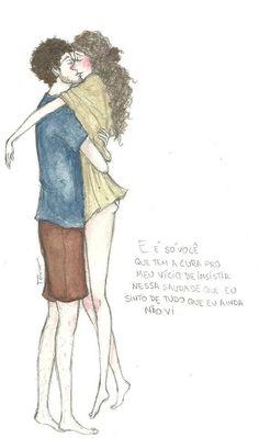 O tempo que passamos juntos vai ficar pra sempre Intimidades, brincadeiras, só a gente entende Pra quem fala que namorar é perder tempo, eu digo Há muito tempo eu não cresci o que eu cresci contigo  Juntos no balanço da rede, sob o céu estrelado Sempre acontece, o tempo para quando eu tô do seu lado A noite chega, eu fecho os olhos, é você que eu vejo Como eu queria estar contigo, eu paro e faço um desejo  Pensa em mim, que eu tô pensando em você E me diz o que eu quero te dizer Vem pra ca…