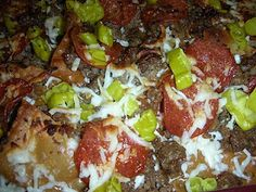 Old Chicago Knockoff Italian nachos.  These were as good as I remembered.   NOTED... WATCH CHIPS they continue to cook.