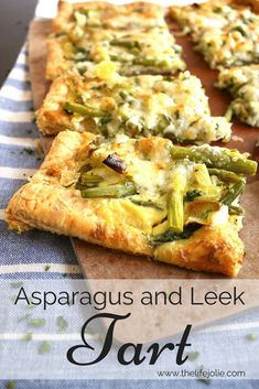 This Asparagus, Leek and Egg Tart is a quick and easy brunch recipe that is full of great flavor! Made with fresh herbs, puff pastry and gruyere cheese, it's an awesome dish to pass! Tart Recipes, Cooking Recipes, Leek Recipes, Dutch Recipes, Savoury Recipes, Vegetarian Recipes, Leek Tart, Risotto, Easy Brunch Recipes