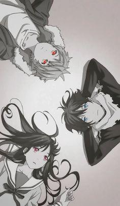 Yato x yukine x hiyori Noragami Anime, Manga Anime, Yato And Hiyori, Anime Demon, Otaku Anime, Anime Art, Kawaii Anime, Illustration Studio, Couples Anime