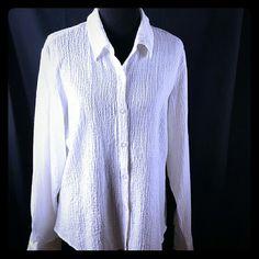 Women Professional Shirt White long sleeve button up shirt Tops Button Down Shirts