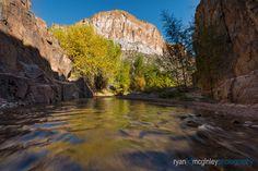 Fall colors reflect in Aravaipa Creek in the Aravaipa Canyon Wilderness near Mammoth, Arizona. New Work, Wilderness, Landscape Photography, Arizona, Mountains, Colors, Fall, Nature, Travel