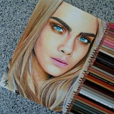 Dibujo de Cara Delevingne. Drawing. Draw.