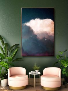Abstract Art Print - Cloud Paintings by Corinne Melanie