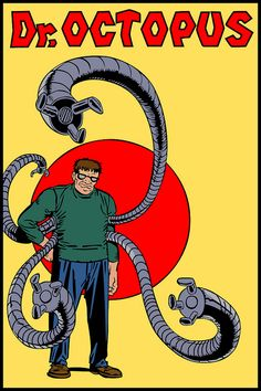 Octopus by Steve Ditko (Marvel) Marvel Comics Superheroes, Marvel E Dc, Marvel Comic Universe, Marvel Characters, Marvel Villains, Comic Book Artists, Comic Artist, Comic Books Art, Comics