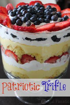 Patriotic Trifle Recipe - easy and delicious!