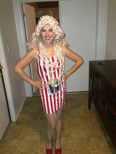 Popcorn costume  sc 1 st  Pinterest & Popcorn seller.... adult costume | costume | Pinterest | Popcorn ...