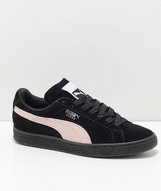 511dc1476e4 PUMA Suede Classic+ Black   Pearl Shoes