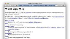 """""""이게 바로 세계 첫 웹페이지"""" -테크홀릭 http://techholic.co.kr/archives/32019"""