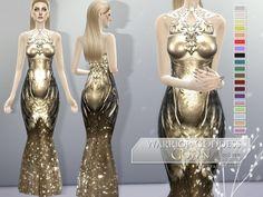 Warrior Goddess Gown at Praline Sims via Sims 4 Updates