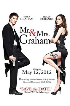 "Movie Poster inspired Save the Date | Rated ""M"" for Marriage! http://thebridaldetective.com/rsvpsavethedates/"