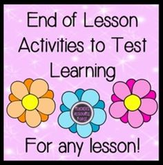 End of lesson closure powerpoint activities to check learning, suitable for any lesson and a variety of abilities!
