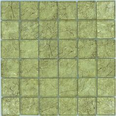 """Sheet size: 11 3/4"""" x 11 3/4""""     Tile Size: 1 7/8"""" x 1 7/8""""     Tiles per sheet: 36     Tile thickness: 1/4""""     Grout Joints: 1/8""""     Sheet Mount: Mesh Backed    Important Information:During manufacturing, color is bonded to the back of the glass tiles. As a result, color may vary. Tiles should not be installed in areas exposed to direct sunlight,shower & water applications as color will change.     Sold by the sheet"""