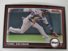 2010 Bowman Chrome #139 Yunel Escobar Toronto Blue Jays Baseball Card #BowmanChrome #TorontoBlueJays