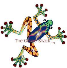 Frog Garden Art colourful Metal Home & Garden Wall Decor or Deck Ornament FC-8