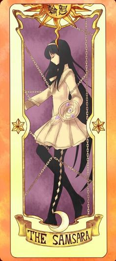 Cardcaptor meets Madoka Magica - Homura Akemi as The Samsara | Clow Card | Without existence, thete can be no reality