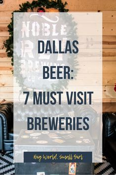 This guide includes some of the most essential Dallas breweries (& even a cidery! If you're coming to the 'Big D' for a visit, here are 7 places to visit. Dallas Things To Do, Things To Do At Home, Texas Things, Moving To Dallas, Moving To Texas, Dallas Travel, Texas Travel, Texas And Oklahoma, Dallas Texas