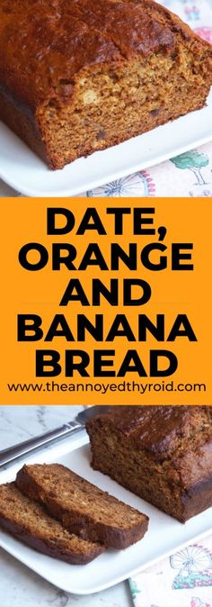 Banana Recipes Thermomix, Banana Bread Recipes, Cake Recipes, Snack Recipes, Banana And Date Loaf, Make Banana Bread, Blueberry Bread, Orange Recipes, Sweet Recipes