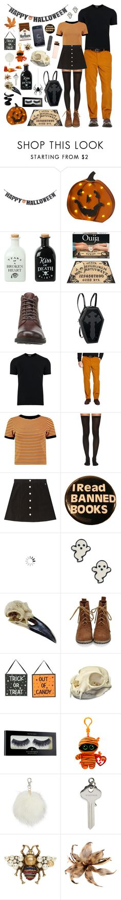 """""""Orange autumn cuties"""" by pastelprincess152 ❤ liked on Polyvore featuring Crate and Barrel, Hot Topic, Dolce&Gabbana, Brooks Brothers, Boohoo, Wolford, AG Adriano Goldschmied, claire's, Clips and Corvus"""