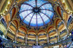 Paris shopping! At the Galeries Lafayette Haussmann