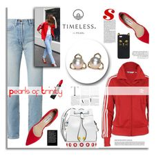 """""""Pearls of Trinity"""" by timelesspearl on Polyvore featuring adidas Originals, Yves Saint Laurent, Nly Shoes, Kenzo and NARS Cosmetics"""