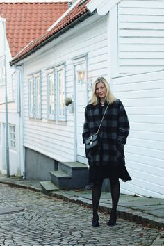 Isabel Marant Etoile coat and dress, Valentino bag, winter party style