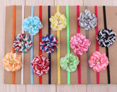 11pcs Fashion Kids Baby Girls Toddlers Striped Headbands Hair Band Accessories
