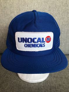 05c3b2776 Vintage Unocal 76 Chemicals Patch Snapback Hat Cap Trucker Mesh Flat Bill  USA #Unbranded #